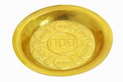 Plato Pesaj plástico dorado 20 ctms.