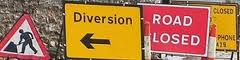 Road Closure and Traffic Diversion Streets Signs