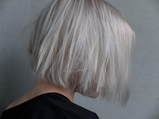 Olaplex, grey hair, gray, hair, white hair, bob, short bob, polkka, Acne studios