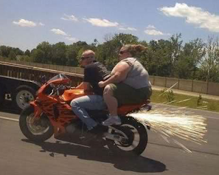 funny picture fat woman on motorcycle