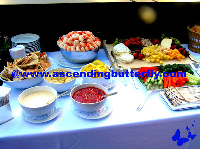 Buffet Table at Ask Dr. Graf #DermDL Event in New York City