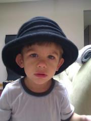toddler in cute hat