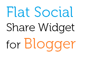 Flat Responsive Social Share Widget for Blogger