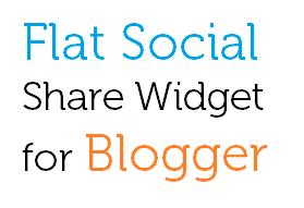 Flat Responsive Social Share Widget for Blogger