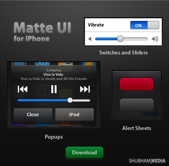 Matte iPhone UI v1.1 - iPhone User interface