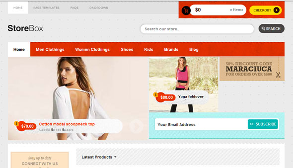 StoreBox Ecommerce WordPress Theme Free Download by Templatic.