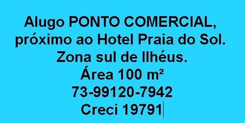 ALUGO PONTO COMERCIAL