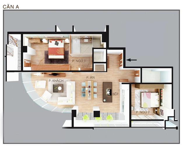 Bản vẽ nội thất căn hộ A