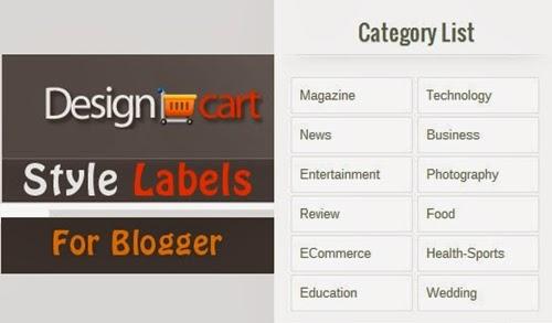 Cara Membuat Widget Label Sendiri Untuk Blogger