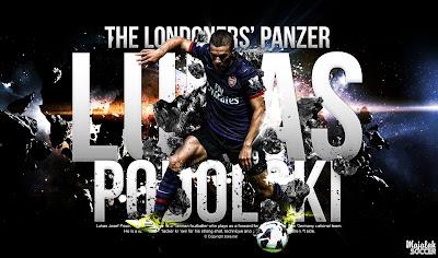 Lukas Podolski - Arsenal - Wallpaper Sepakbola Terbaru 2012-2013