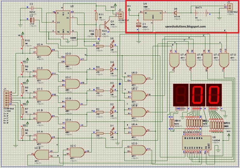 Digital Water Level Indicator (Circuit Explanation)   Saeed\'s Blog
