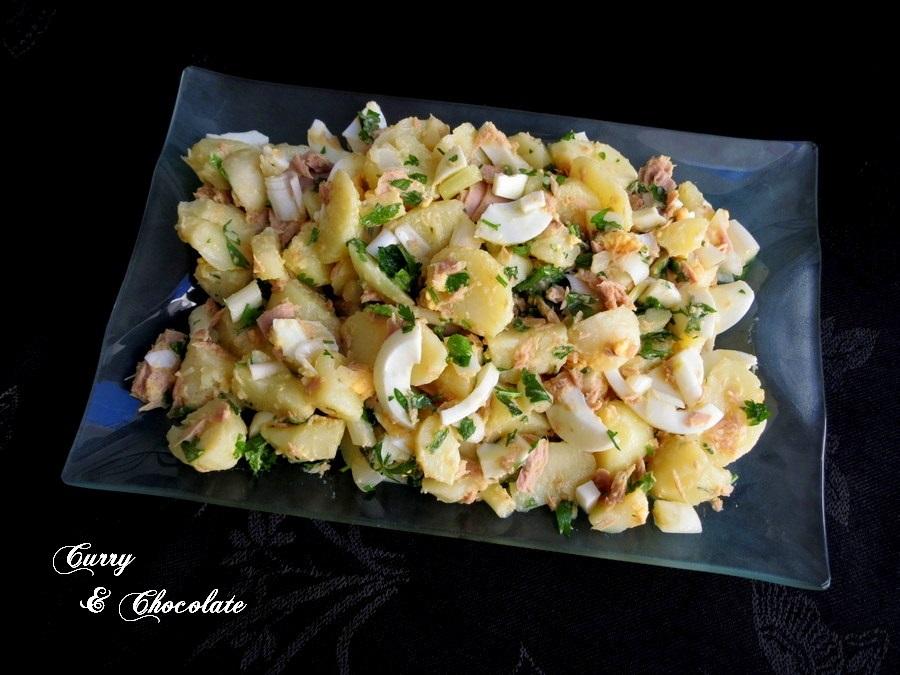 """""""Papas aliñás"""" o aliño de patatas cocidas – Andalusian potato salad"""