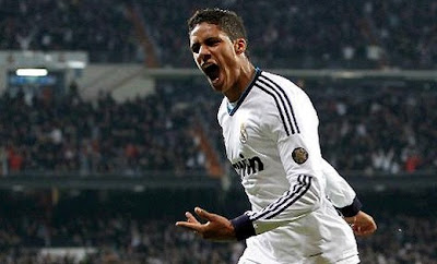 Raphael Varane with the Real Madrid jersey