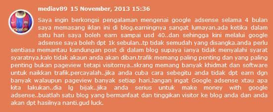 Tips Google Adsense untuk Blogger Malaysia