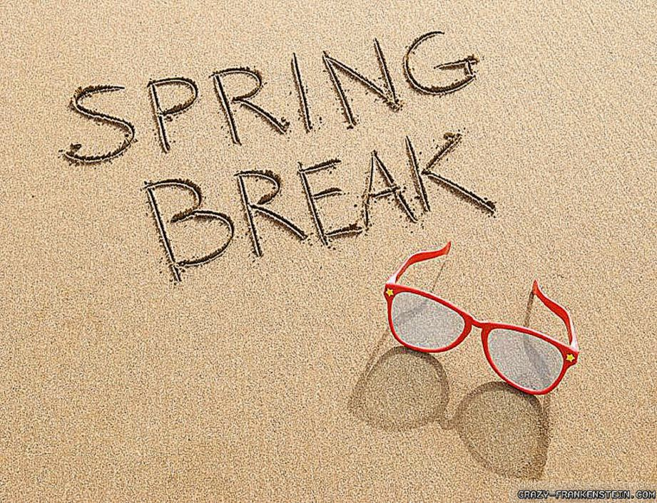 Spring Break Words HD Image 1024x768 for Gadget Background