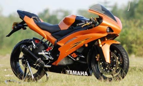 Gambar Modifikasi Motor Yamaha Vixion New Terbaru Orange