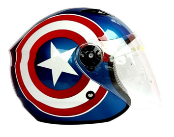 Projektfreedom: BMC Milan Captain America Helm Half Face