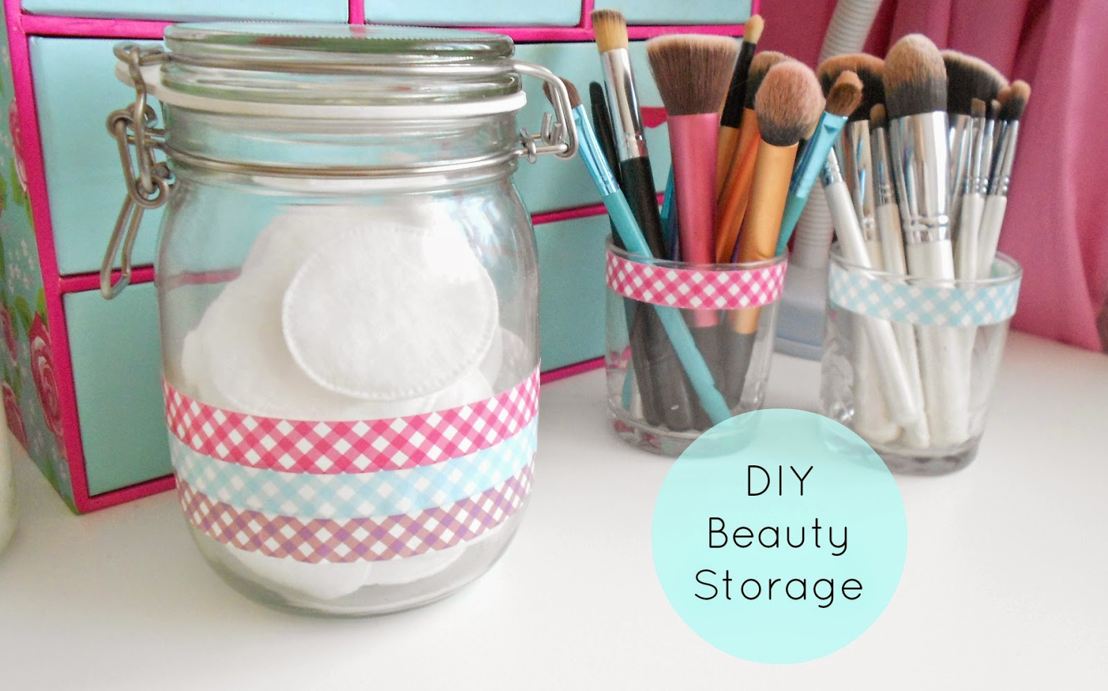 diy brush holders kilner jar beauty storage