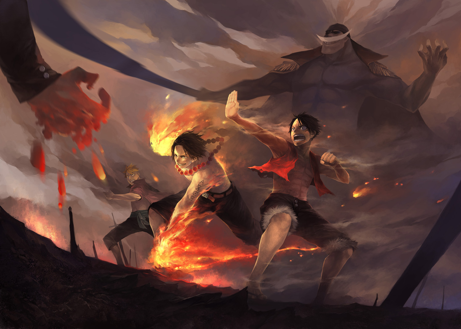 Fighting style monkey d luffy in anime one piece story of monkey d