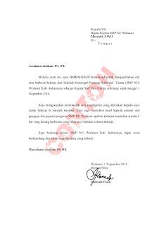 Contoh Surat Pengunduran Diri Buat Instansi Atau Kantor, cara membuat surat pengunduran diri untuk sekolah
