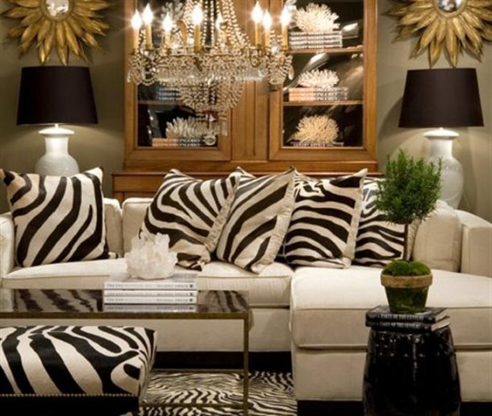 Kardashian interior design and romantic rooms design to for Animal print living room decorating ideas
