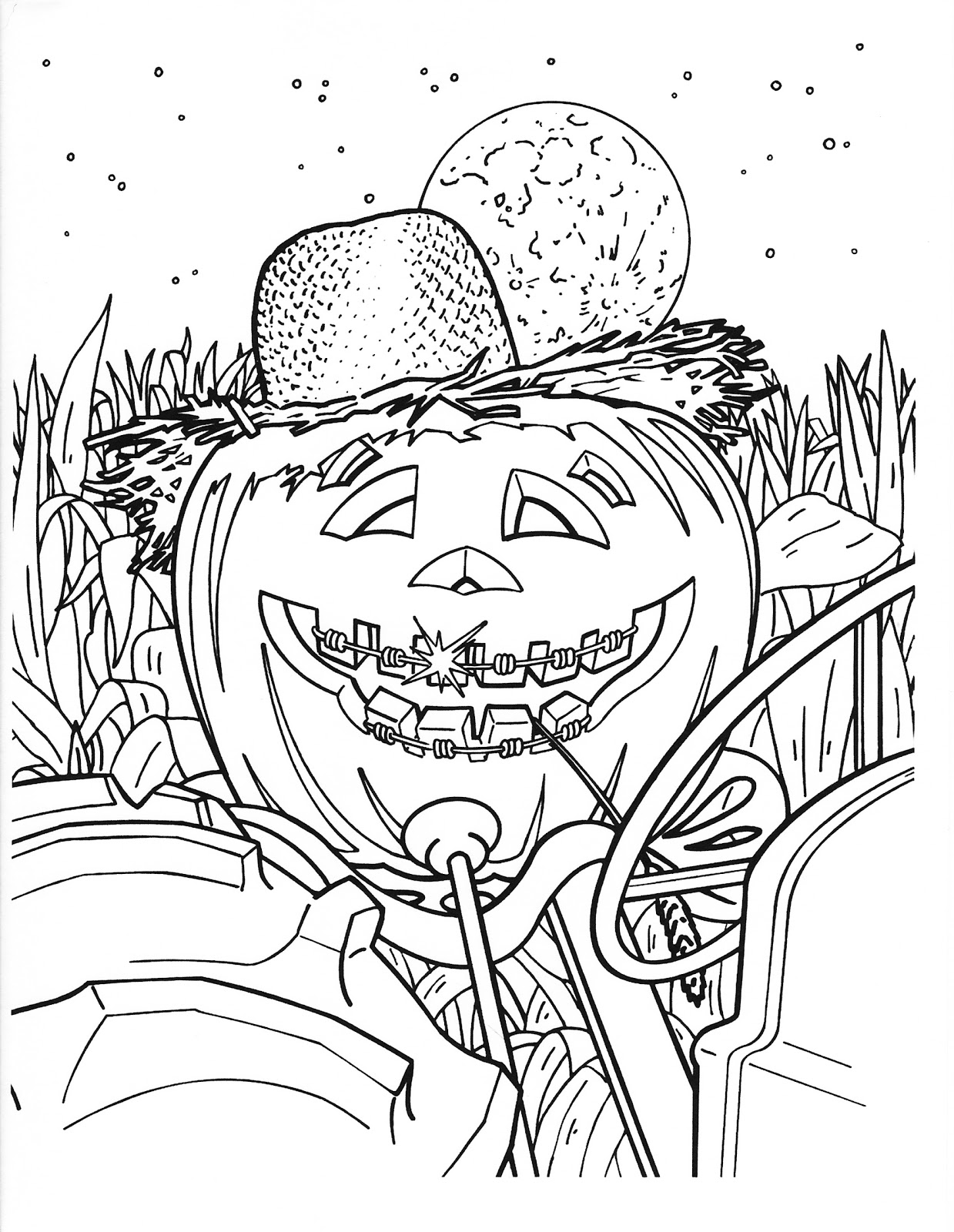 hard free halloween coloring pages - photo#25