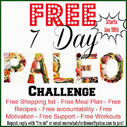 7 Day FREE paleo challenge Starts Jan 19th