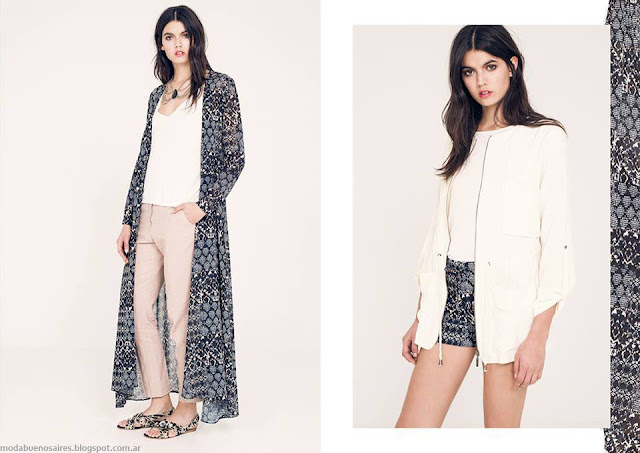 Kimonos largos verano 2016. Ossira primavera verano 2016.