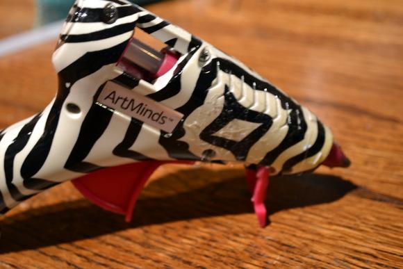 Hot Glue Gun Zebra Pattern