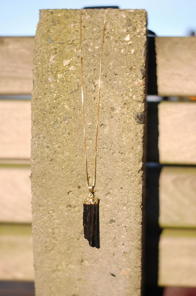 Black tourmaline necklace Dear You, Pretty Things Vancouver