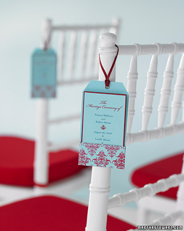 Hang the program off of each For our DIY Wedding programs