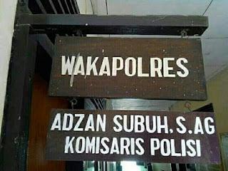 Nama Unik ADZAN SUBUH AMJAH Ternyata Benar Seorang POLISI Wakapolres