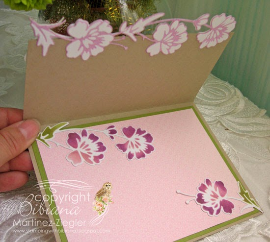 flower border edge card inside