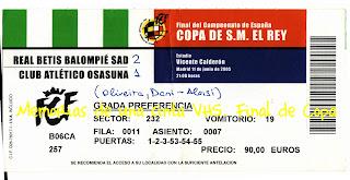 Final de Copa, Betis - Osasuna