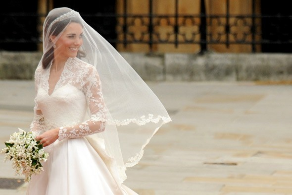 I 39ve always admired long sleeved lace wedding gowns and I thought Kate