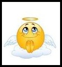 emoticon malaikat