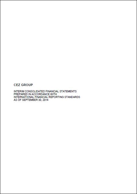 Cez, Q3, 2014, front page