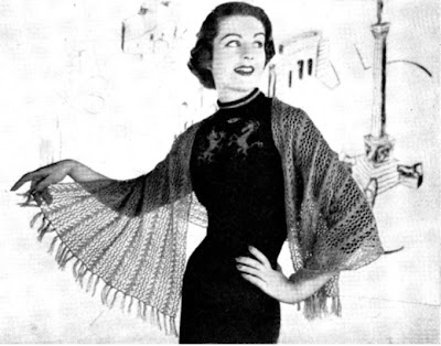 1950's Knitting - Cobweb Shawl