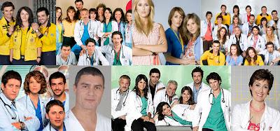Posados de los actores de la serie médica de Telecinco