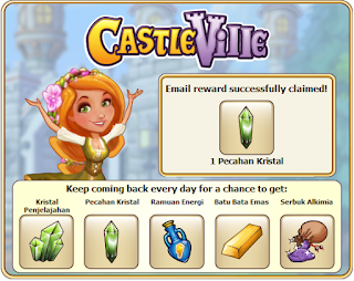 CastleVille email reward may 09