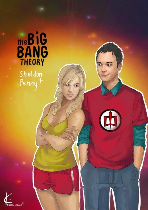 TBBT FanArt:Sheldon+Penny por Shin-ichi