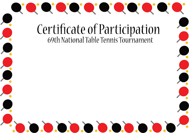 Table Tennis and Ping pong free vector art certificate