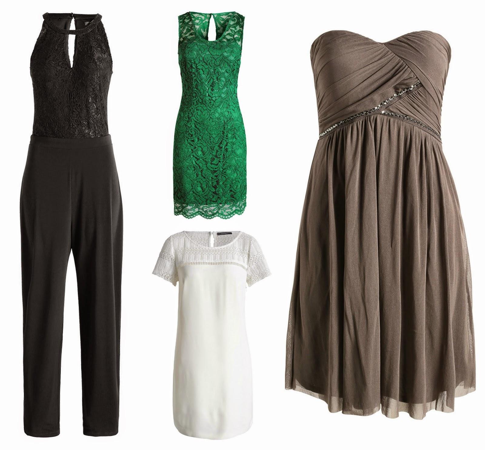 Esprit jurk kant groen