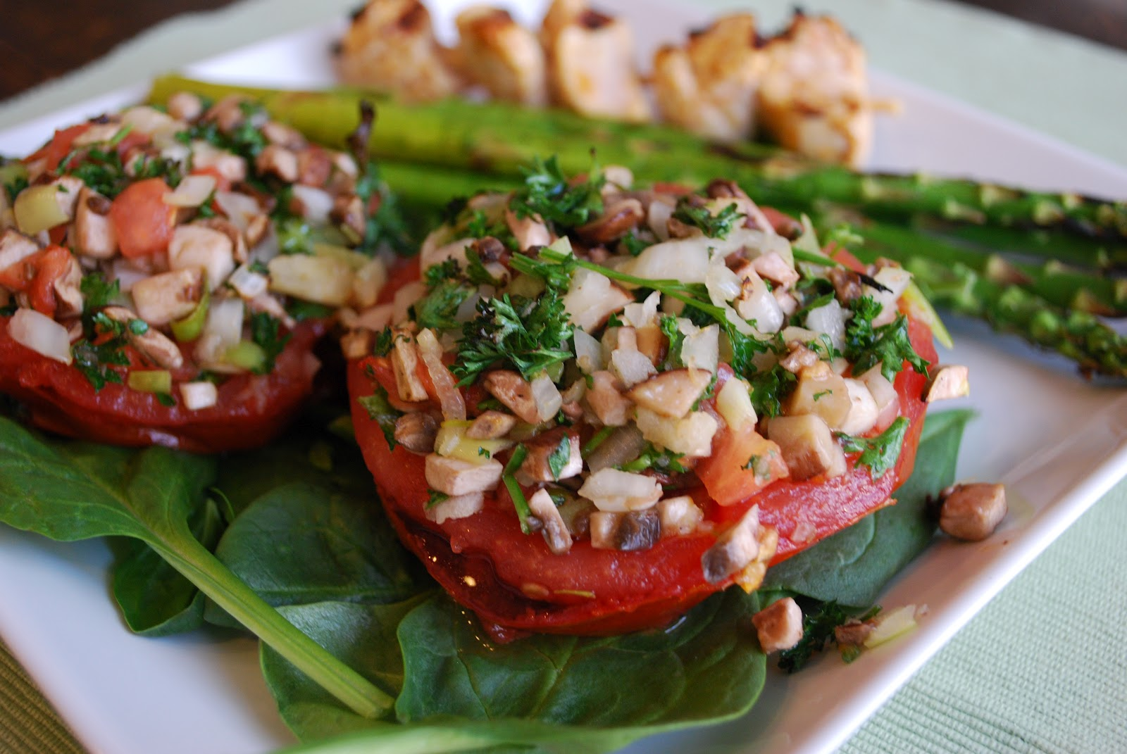 The Spinach Spot: Stuffed Grilled Tomatoes