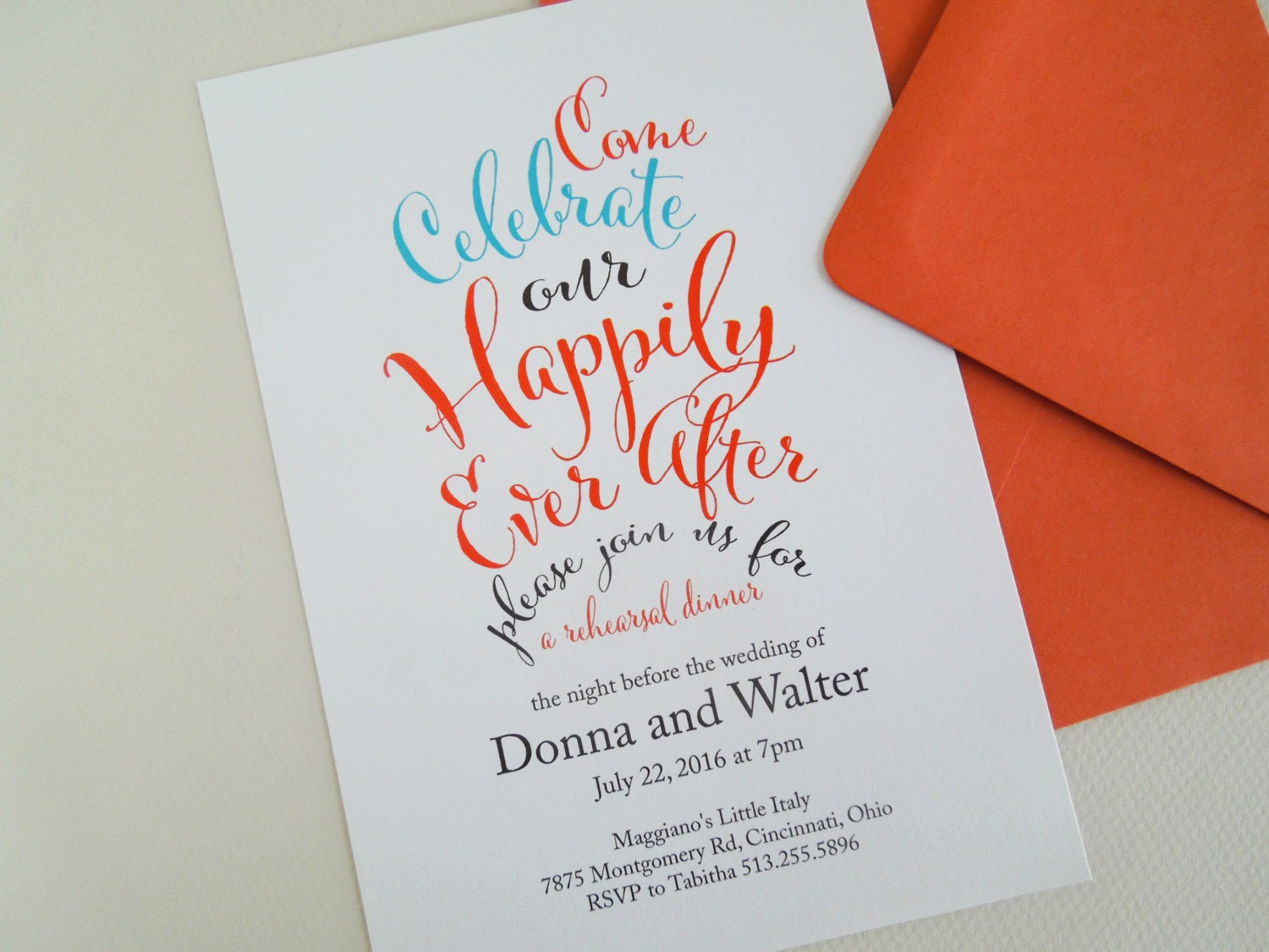 Invited Too Happily Ever After Invitations – After Rehearsal Dinner Party Invitations