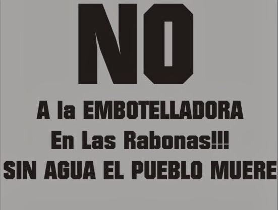 NO A LA EMBOTELLADORA