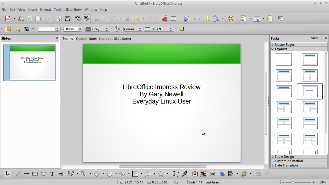 make xubuntu the ultimate linux operating system – install libreoffice, Presentation templates