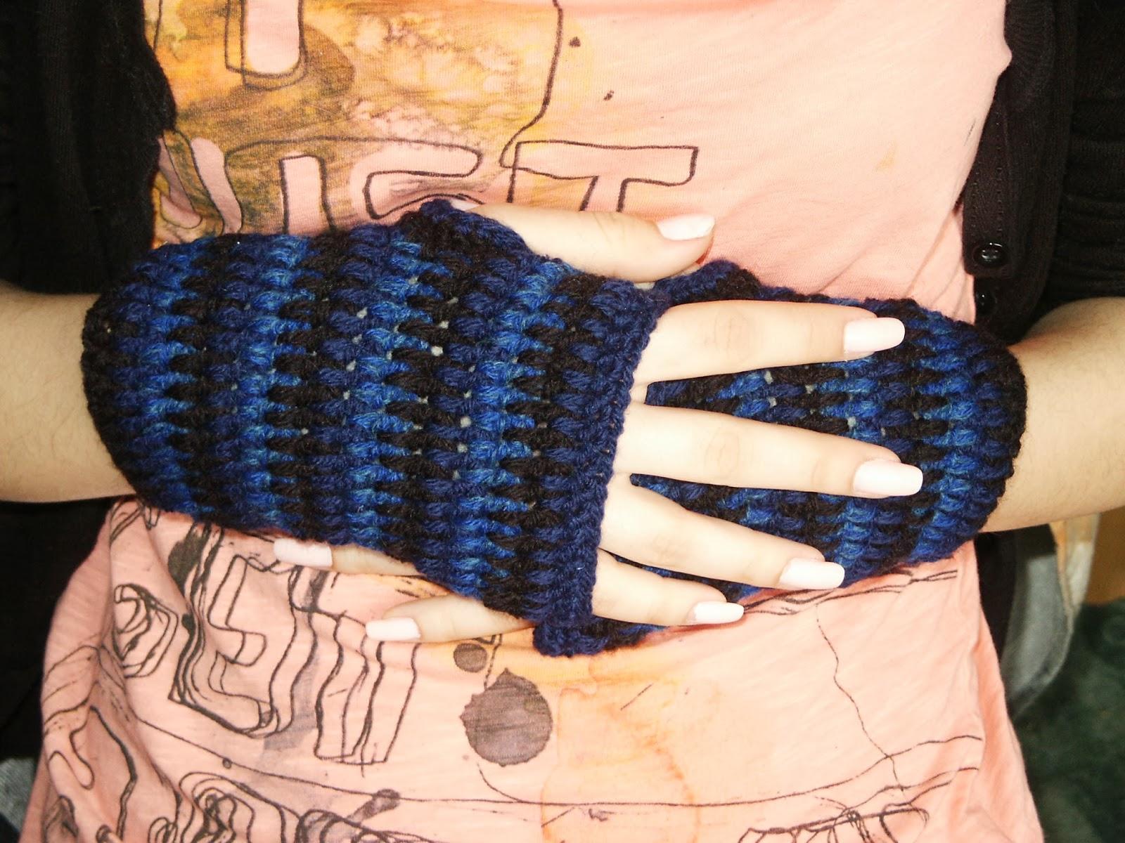 mitenki szydełkowe, cieniowane mitenki, crochet,
