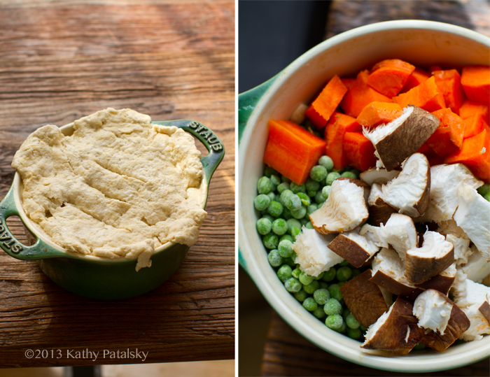 Creamy Cashew Veggie Pot Pie. Flaky Biscuit Crust. Comfort Food.