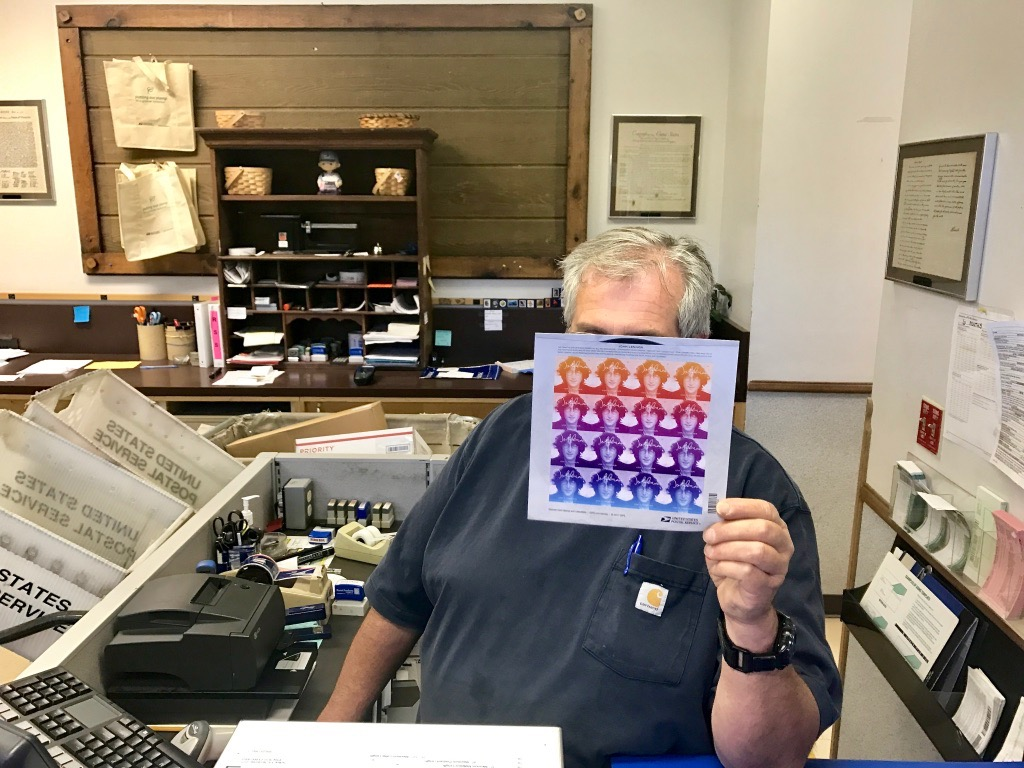 John Lennon collectible forever stamps go fast at local P.O.